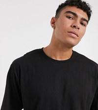 Soul Star Tall Organic Cotton Oversized T Shirt Black