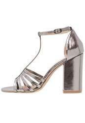 New Look Whitby Sandals Gunmetal Pewter Silver