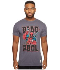 The Original Retro Brand Deadpool Short Sleeve Vintage Cotton Tee Charcoal Men's T Shirt Gray