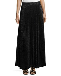 Haute Hippie Pleated Diamond Maxi Skirt Black Black Diamond