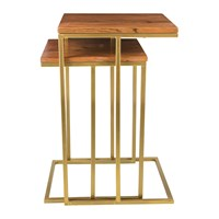 Amara Wooden Nesting Coffee Tables Square Set Of 2