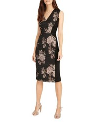 Phase Eight Narissa Jacquard Dress Black Gold