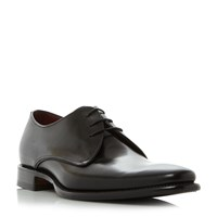 Loake Bressler Plain Three Eyelet Derby Shoes Black