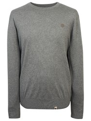 Pretty Green Mosley Crew Neck Jumper Light Grey