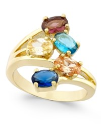 Charter Club Gold Tone Multi Stone Cluster Ring Only At Macy's
