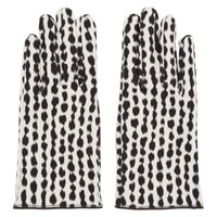 Raf Simons Black And White Animal Print Gloves
