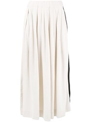 Y 3 Cropped Palazzo Pants Nude And Neutrals