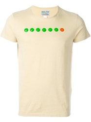 Walter Van Beirendonck Vintage Circle Applique T Shirt Nude And Neutrals