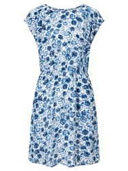 John Lewis Collection Weekend By Etched Floral Dress Blue White