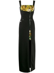Versace Jeans Couture Baroque Zip Front Maxi Dress 60