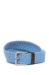 Tommy Bahama Sea Sojourner Leather And Fabric Belt Blue