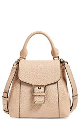 Burberry 'Belmont' Convertible Leather Backpack Beige Pale Apricot