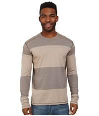 Prana Keller L S Crew Mud Men's Long Sleeve Pullover Taupe