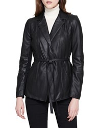 Marc New York Glove Lamb Leather Belted Jacket Black