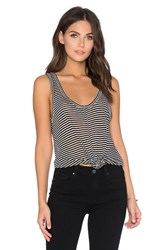 Paige Shaelyn Stripe Tank Black And White