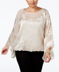 Alfani Plus Size Floral Jacquard Blouson Top Only At Macy's New Champagne