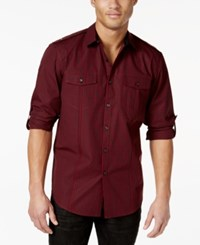 Inc International Concepts Barnes Checked Long Sleeve Shirt Only At Macy's Red