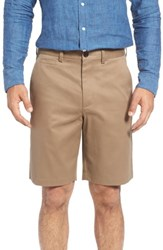Nordstrom Big And Tall Men's Shop Smartcare Tm Flat Front Shorts Taupe
