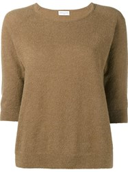 Dries Van Noten Mabli Jumper Nude And Neutrals
