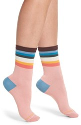 Paul Smith Cindy Artist Stripe Ankle Socks Pink
