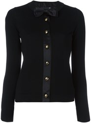 Love Moschino Bow Tie Detail Cardigan Black