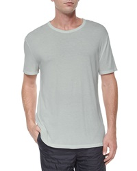 T By Alexander Wang Classic Short Sleeve Crewneck Tee Gray