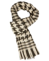 Our Legacy Black Houndstooth Scarf