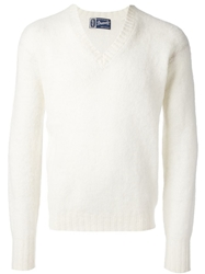 Drumohr Vintage Cable Knit Jumper White