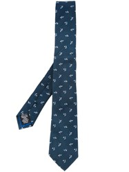 Paul Smith Jacquard Skinny Tie Blue