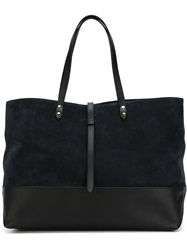 Tomas Maier Large Shopping Tote Blue