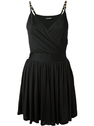 Balmain Fitted Wrap Style Dress Black
