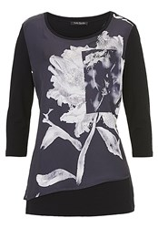 Betty Barclay Floral Print Satin Tunic Multi Coloured