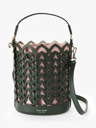 Kate Spade New York Dorie Leather Small Bucket Bag Green