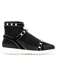 Valentino Rockstud Sock Sneakers Black