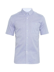 Patrik Ervell Short Sleeved Striped Cotton Shirt