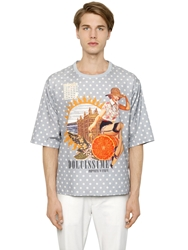 Dolce And Gabbana Ottobere Pin Up Cotton Gauze T Shirt Multi