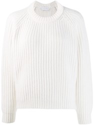 Christian Wijnants Kora Ribbed Jumper White