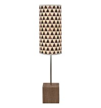 Jefdesigns Triangle 2 Cuboid Table Lamp Light Brown