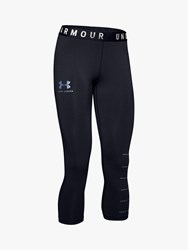 Under Armour Favourite Graphic Cropped Training Tights Black Onyx White