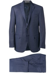 Corneliani Two Piece Tailored Suit Blue