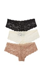 Honeydew Intimates Camellia Hipster 3 Pack Black Dreamy Cream Taupe