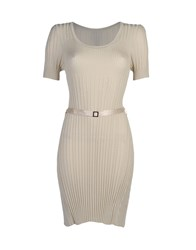 Tricot Chic Short Dresses Beige