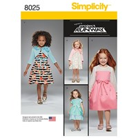 Simplicity Children's Project Runway Dresses Sewing Pattern 8025