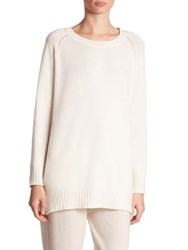 Agnona Cashmere Knit Sweater White