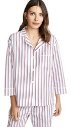 Sleepy Jones Marina Pj Top White Navy Red