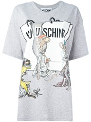 Moschino Rat A Porter T Shirt Grey