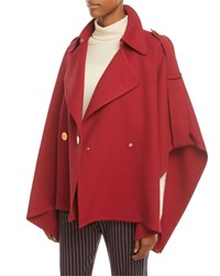 See By Chloe Snap Front Trench Cape Red