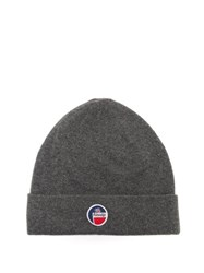 Fusalp Styx Logo Patch Wool Blend Beanie Grey