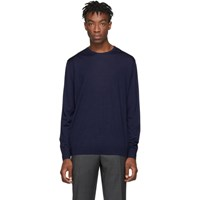 Prada Blue Wool Lightweight Sweater