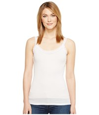 Michael Stars Front To Back Lace Edge Layering Tank Top Sugar Women's Sleeveless Bone